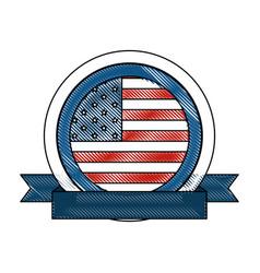 usa country flag icon vector image