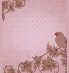 Vintage pink background vector