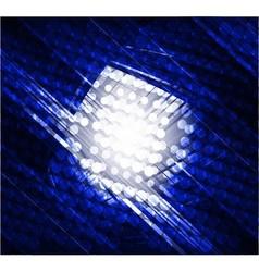 Virtual technology dark blue background vector