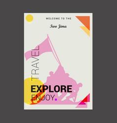 welcome to the iwo jima usa explore travel enjoy vector image