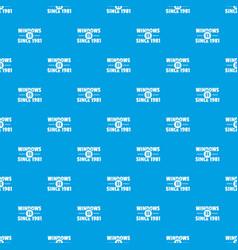 Window pattern seamless blue vector