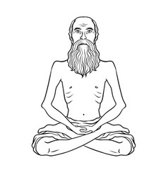 yogi meditation coloring book vector image