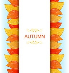 Abstract Autumn Invitation vector image vector image