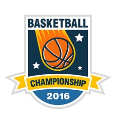basketball championship tournament team logo vector image