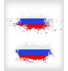 Grunge russian ink splattered flag vector image