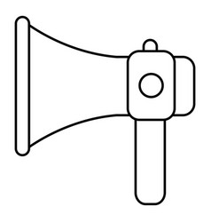 hand speaker icon outline style vector image