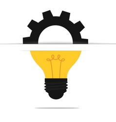 Light bulb gear idea concept vector image
