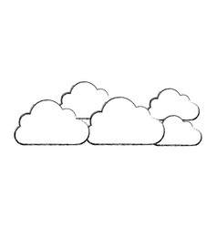silhouette cloud sticker icon vector image vector image