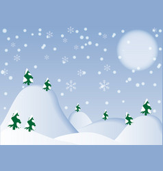 winter background- vector image