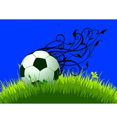 background with ball vector image