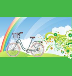 bicycle eco world vector image