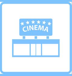 cinema entrance icon vector image