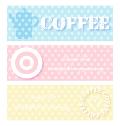 coffee blue pink color vector image