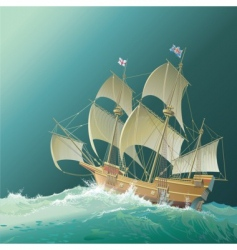 galleon mayflower vector image