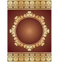 golden elegance vector image vector image