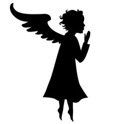 litle angel vector image vector image