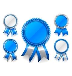 Blue Award Medals vector image