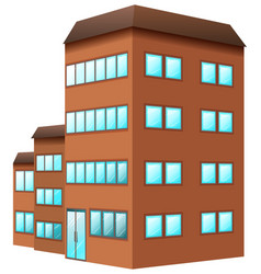 Building painted in brown color vector