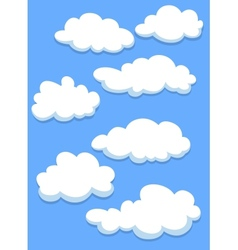 Cartoon white clouds on sky vector image vector image