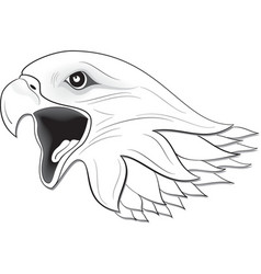 eagle face vector image