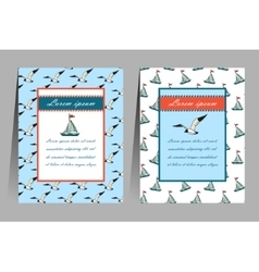 Set of sea banners and flyers vector image