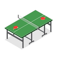 table tennis game isometric view vector image vector image