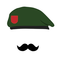 Beret and mustache vector image