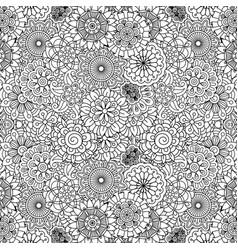 floral ornamental decorative pattern vector image