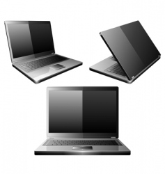 laptops vector image