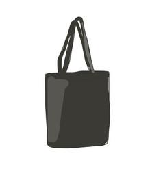 linen shopping bag sketch for your design vector image vector image