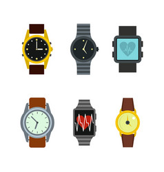 smartwatch icon set flat style vector image