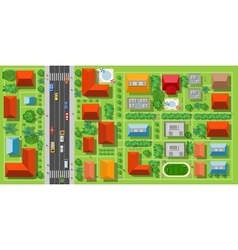 Top view of a highway vector