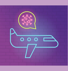 2019 ncov outbreak pandemic avoid travel airplane vector