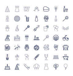49 party icons vector