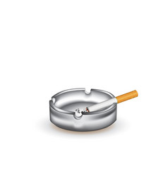 ashtray and cigarette vector image