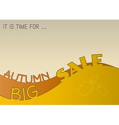 Autumn big sale vector