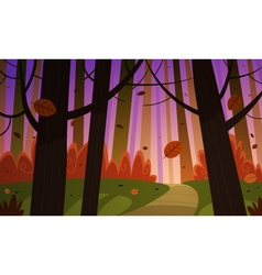 Autumn Forest Trail vector image
