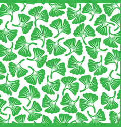 Background pattern with ginkgo biloba plants vector