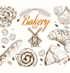 Bakery grafic white vector