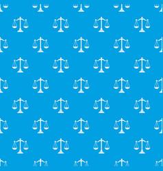 Balance scale pattern seamless blue vector