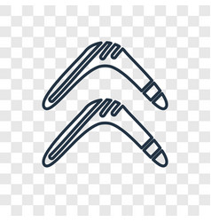 Boomerang concept linear icon isolated on vector