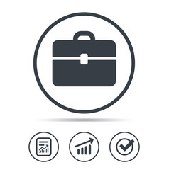 Briefcase icon diplomat handbag sign vector