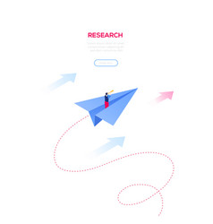Business research - modern isometric web vector