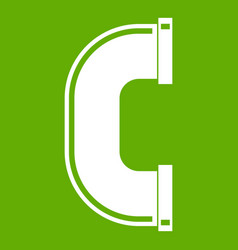 C joint pipe icon green vector