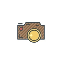 Camera icon in cute flat style Camp icon Best vector