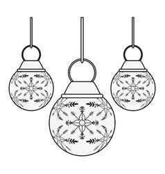 christmas decorative balls vector image