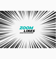 comic zoom lines motion background vector image