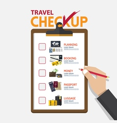 concept of infographic for travel planning vector image