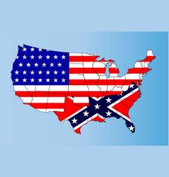 confederate states vector image