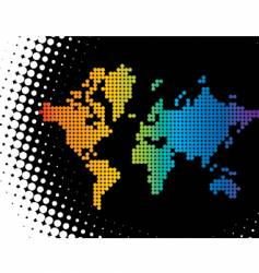 dot map vector image